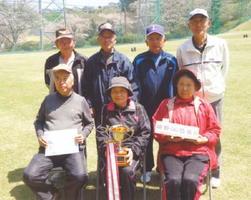 サンゴルフGG4月例会 団体の部で優勝した嬉野GG協会Aのみなさん