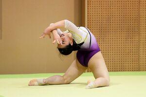 体操女子個人総合で4位入賞した鳥栖の大隈愛望=佐賀市のSAGAサンライズパーク総合体育館
