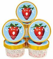 いちごさんの果肉がぜいたくに入った「いちごさんアイス」