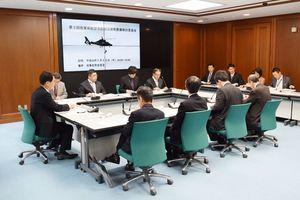 県防災ヘリの整備方針を検討する委員会=佐賀県庁