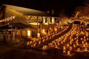 6千個の灯籠による幻想的な世界が楽しめる「光のバレンタイン」(昨年の様子、武雄市提供)