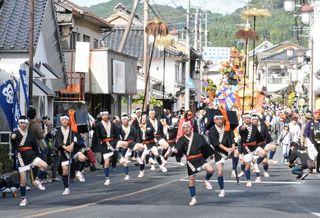 「羽熊行列」に熱視線 熊野神社で相知くんち