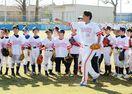 ホークス東浜、森、上林選手らが野球教室 小学生、技術学ぶ