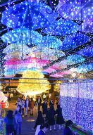 【動画】コロナ収束、光に願い 佐賀市、ライトファンタジー…