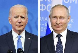 バイデン米大統領(ロイター=共同)、ロシアのプーチン大統領