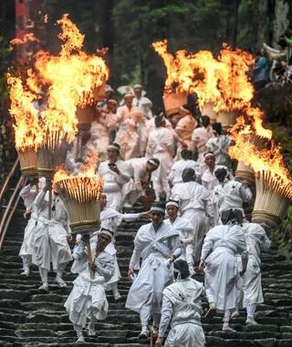 熊野那智大社で「扇祭り」
