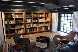 「御宿 富久千代」のライブラリースペース