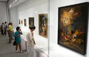 絵画愛好家らでにぎわう「バロックの巨匠たち」展=佐賀市の佐賀県立美術館