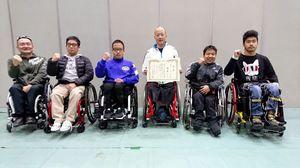 初の7位入賞を飾った佐賀県チーム=京都市のハンナリーズアリーナ