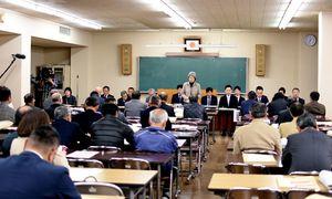 4月15日投開票の市長・市議選の立候補予定者説明会=神埼市役所