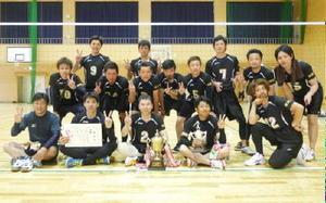 第56回浜玉町内バレーボール大会 男子優勝の横田下チーム