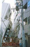 阪神大震災で被害を受けた雑居ビル(出典・消防防災科学センター)