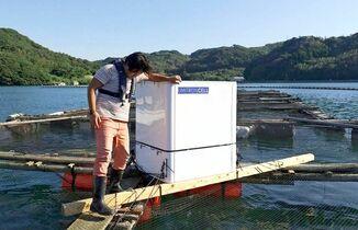 唐津Qサバ養殖にAI給餌機 効率…