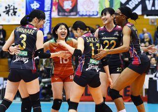 久光6連勝、暫定首位 Vリーグ女子